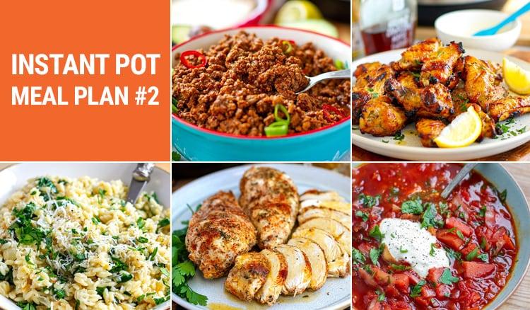 Instant Pot Meal Plan #2