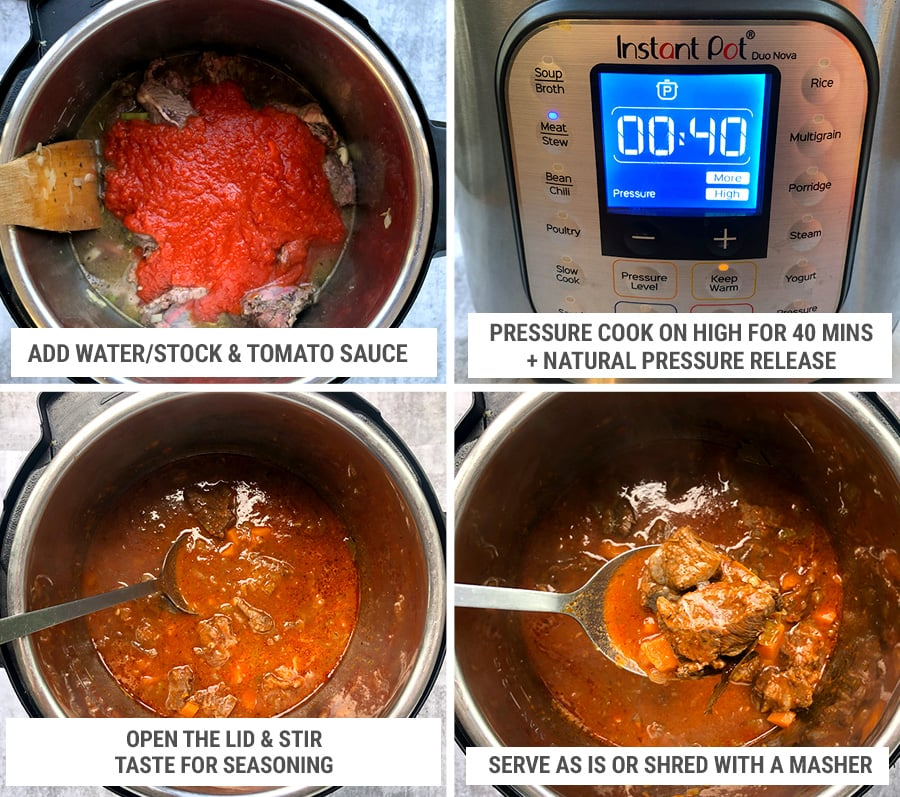 How to make Instant Pot beef cheeks steps 2