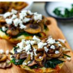 Mushrooms, Spinach & Feta Stuffed Baked Potatoes (Instant Pot + Oven)