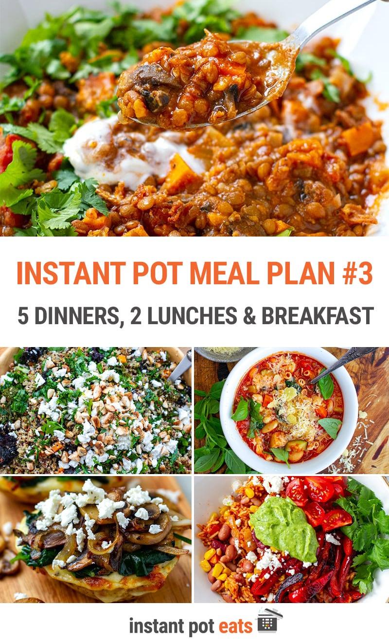 Instant Pot Meal Plan #3 (Vegetarian)